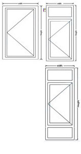 single-glass casement window image